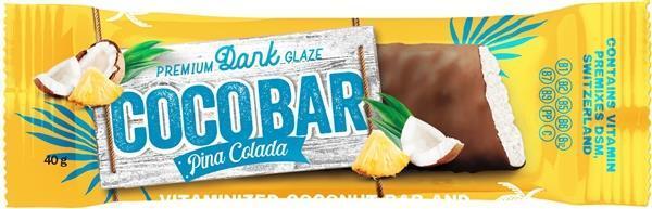 Батончик-мюсли Coco Bar Pina Colada в шоколадной глазури, 40 г
