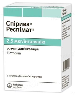 Спирива респимат раствор д/инг. 2.5 мкг/инг по 4 мл (60 доз) в картр. с инг-ром Респимат®