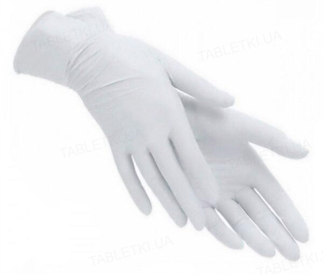 Перчатки смотровые PRIMtouch+ латексные без пудры нестерильные, размер М