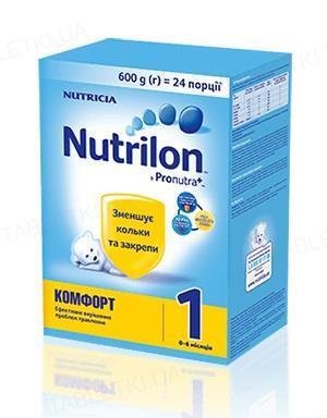 Сухая молочная смесь Nutrilon Комфорт 1 для питания детей от 0 до 6 месяцев, 600 г