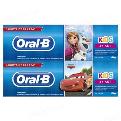Зубная паста Oral-B Kids, Холодное сердце или Тачки, Легкий вкус, 75 мл
