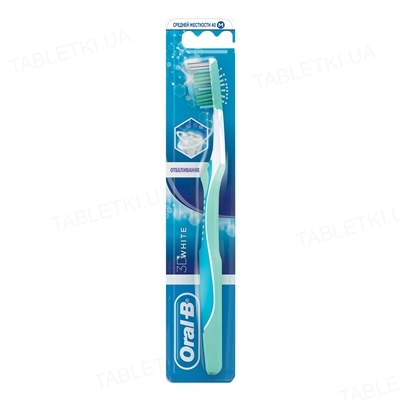 Зубная щетка Oral-B 3D White, отбеливание, 1 штука
