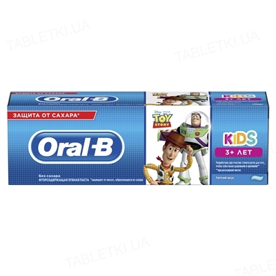 Зубная паста Oral-b Kids, История Игрушек, Легкий вкус, 75 мл
