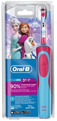 Электрическая зубная щетка Oral-B Stages, детская, Холодное Сердце