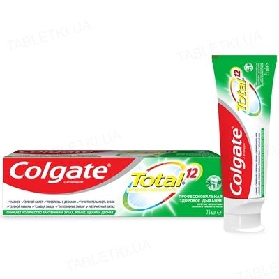 Зубная паста Colgate Total 12, Профессиональная, Здоровое дыхание, 75 мл