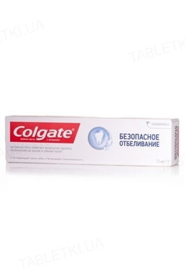 Зубная паста Colgate Безопасное отбеливание, 75 мл