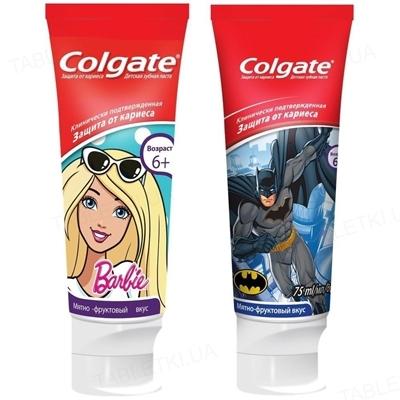 Зубная паста Colgate Barbie/Batman, детская, 75 мл