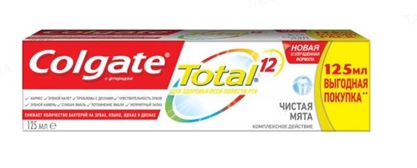 Зубная паста Colgate Total 12, Чистая мята, 125 мл