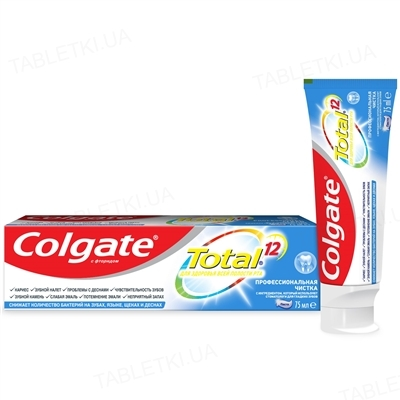 Зубная паста Colgate Total 12, Профессиональная чистка, 75 мл