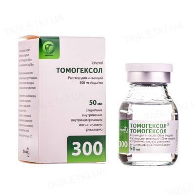 Томогексол раствор д/ин. 300 мг йода/мл по 50 мл №1 во флак.