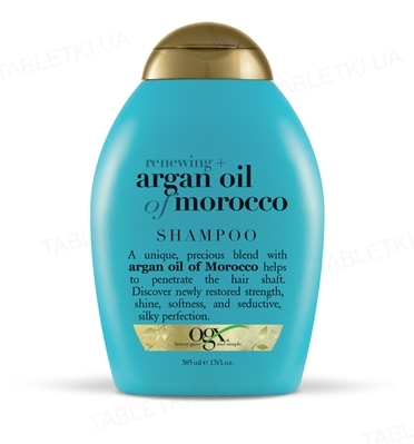 Шампунь Ogx Argan oil of Morocco Восстанавливающий с аргановым маслом, 385 мл