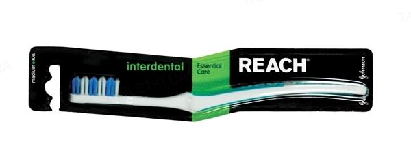 Зубная щетка Reach Interdental, средней жесткости, 1штука
