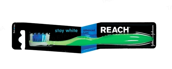 Зубная щетка Reach Stay White, средняя, 1штука