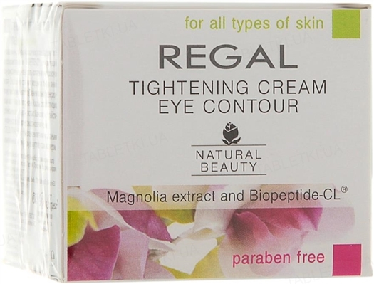 Крем-лифтинг для кожи вокруг глаз Regal Natural Beauty, 20 мл