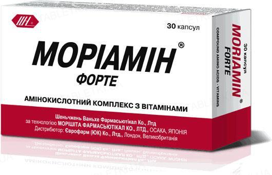 Мориамин форте капсулы №30 (10х3)