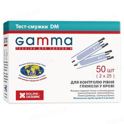 Тест-полоски Gamma DM для глюкометра 2 флакона по 25 штук