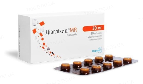 Диаглизид MR таблетки с модиф. высвоб. по 30 мг №30 (10х3)