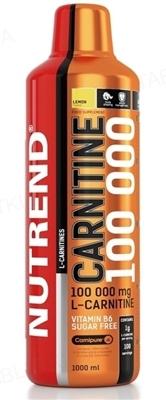 Жироспалювач Nutrend Carnitine 100 000 Лимон, 1000 мл