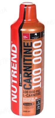 Жироспалювач Nutrend Carnitine 100 000 Кисла вишня, 1000 мл