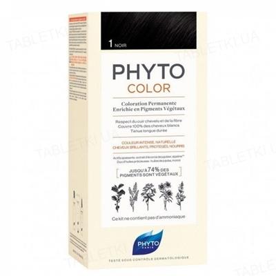 Крем-краска Phyto Phytocolor, тон 1 черный, 60 мл + 40 мл