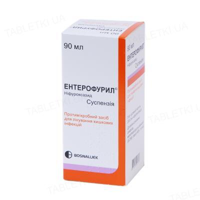 Энтерофурил суспензия ор. 200 мг/5 мл по 90 мл во флак.