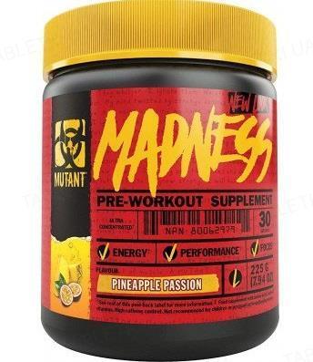 Передтренувальний комплекс Mutant Madness, ананас, 225 г