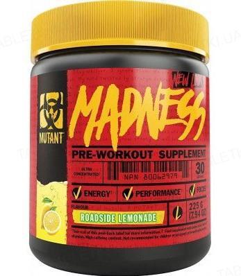 Передтренувальний комплекс Mutant Madness, лимонад, 225 г