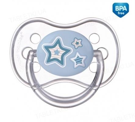 Пустышка силиконовая Canpol Babies Newborn baby симметричная 22 / 581_blu, 6-18 месяцев, 1 шт