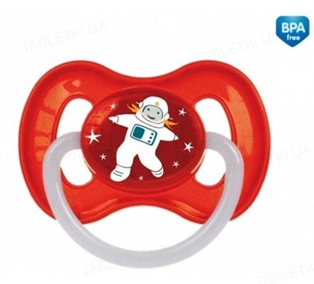 Пустышка латексная Canpol Babies Space круглая 23 / 222_red, 6-18 месяцев, 1 штука