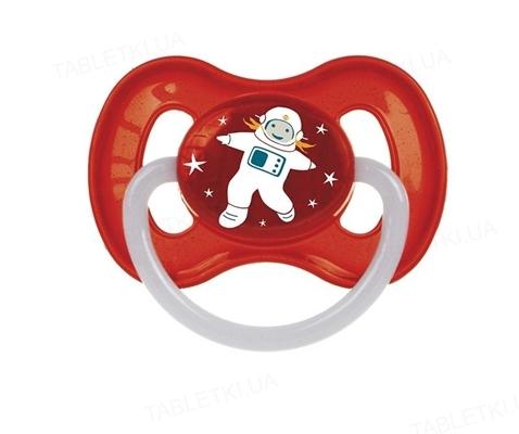 Пустышка латексная Canpol Babies Space круглая 23 / 221_red, 0-6 месяцев, 1 штука