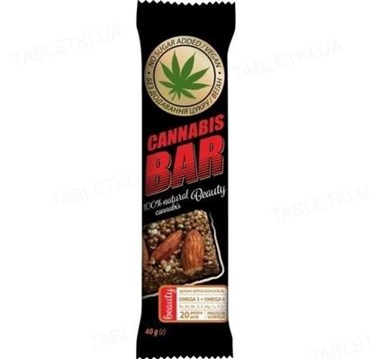 Батончик-мюсли Cannabis Bar с миндалем + семена каннабиса по 40 г в оберт.