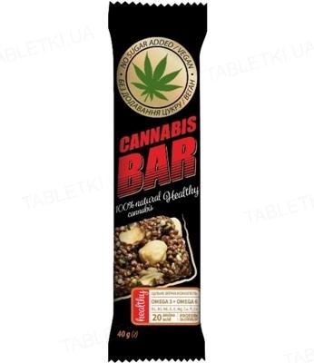 Батончик-мюсли Cannabis Bar с фундуком + семена каннабиса по 40 г в оберт.