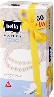 Прокладки гигиенические ежедневные Bella Panty Sensitive Elegance, 50 + 10 штук