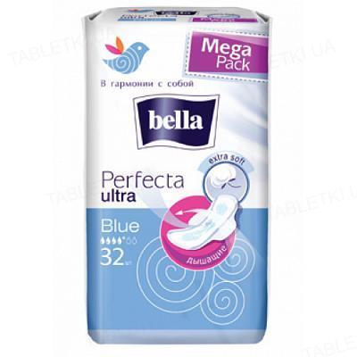 Прокладки гигиенические Bella Perfecta Ultra Blue, 32 штук