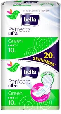 Прокладки гигиенические Bella Perfecta Ultra Green, 10 + 10 штук