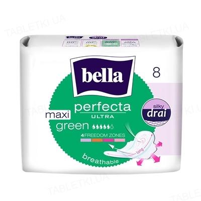 Прокладки гігієнічні Bella Perfecta Ultra Maxi Green, 8 штук