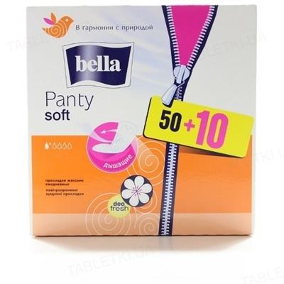 Прокладки гигиенические ежедневные Bella Panty Soft deo fresh, 50 + 10 штук