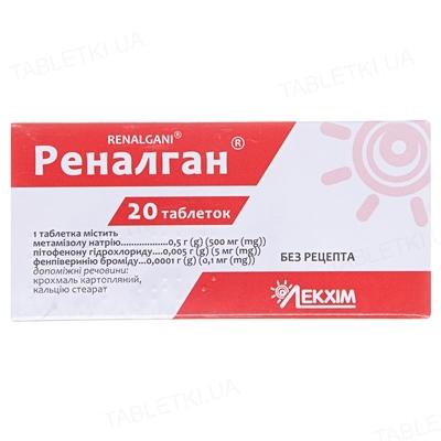 Реналган таблетки №20 (10х2)