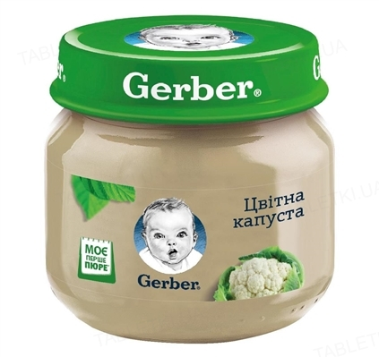 Овощное пюре Gerber Цветная капуста, 80 г