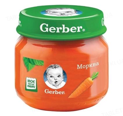 Овощное пюре Gerber Морковь, 80 г