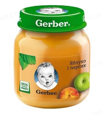 Фруктове пюре Gerber Яблуко і персик, 130 г