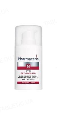 Крем Pharmaceris N Opti-Сapilaril интенсивный, уменьшающий темные круги и отеки под глазами, SPF 15, 15 мл