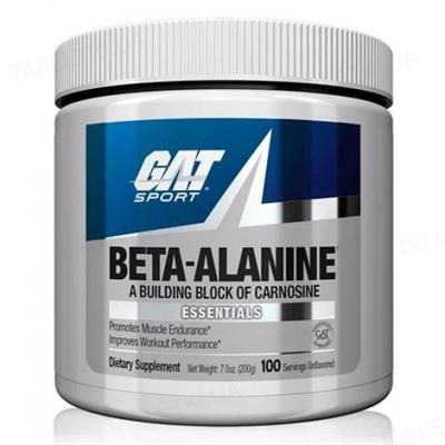 Аминокислота GAT Beta Alanine, 200 г