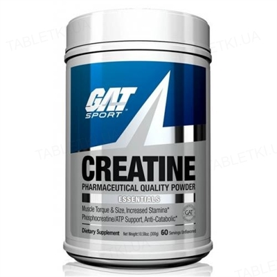 Креатин GAT Creatine Monohydrate, 300 г
