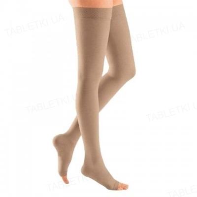 Чулки компрессионные Belsana класс компрессии 2 стандарт, открытый носок, бежевые, размер 6