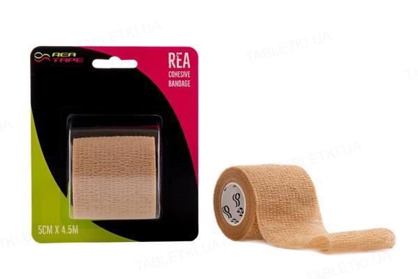 Бинт когезивный REA TAPE Cohesive bandage 5 см х 4,5 м, бежевый
