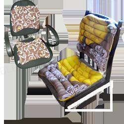 Комплект офисный Лотос, из гречневой шелухи, сидушка 45x45 см, спинка 42x45 см