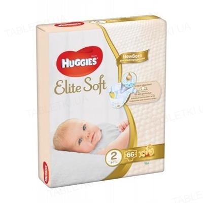 Подгузники детские Huggies Elite Soft, размер 2, 4-6 кг, 66 штук