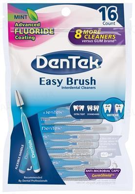 Межзубные щетки DenTek Удобная очистка для широких промежутков, 16 штук