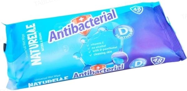 Салфетки влажные Naturelle Antibacterial с D-пантенолом, 48 штук